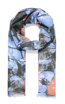 All Over Floral Printed Summer Scarf by Xander Kostroma