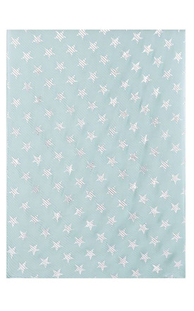 Metallic Heart Print Pleated Scarf in Mint Green by Xander Kostroma