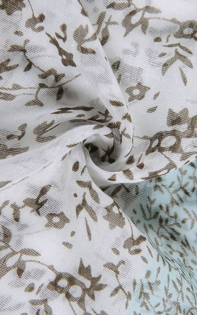 Pretty Nature Inspired Leaf Print Scarf by Xander Kostroma