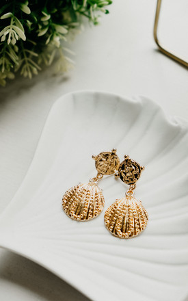 Aviana Puka Shell Gold Earrings by Ajouter Store