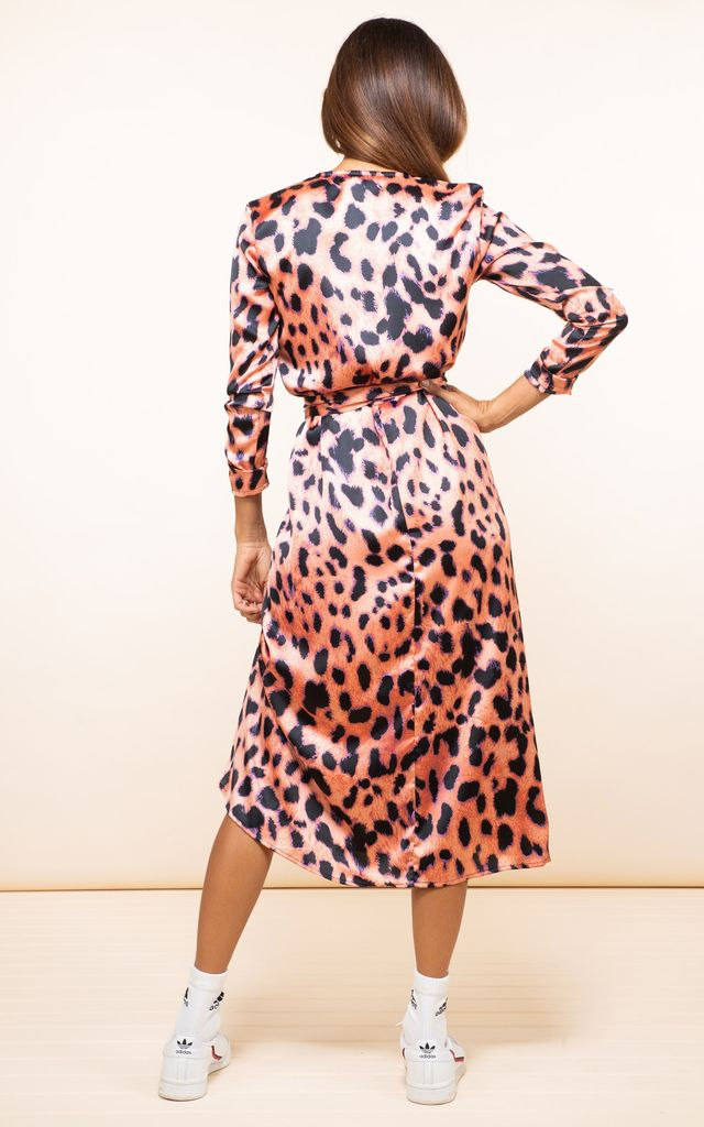 YONDAL DRESS IN PLORANGE LEOPARD by Dancing Leopard