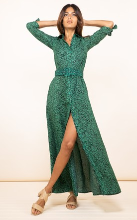 Dove Dress In Green Leopard by Dancing Leopard Product photo