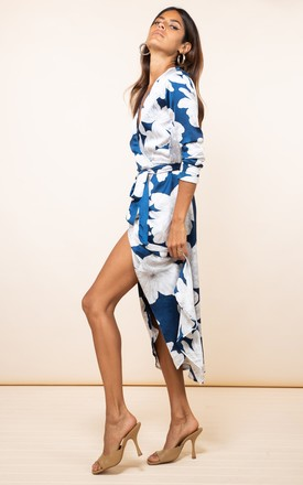 YONDAL DRESS IN NAVY BLOOM by Dancing Leopard
