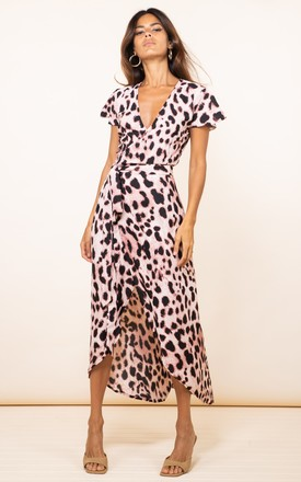 Cayenne Dress In Blush Leopard by Dancing Leopard Product photo