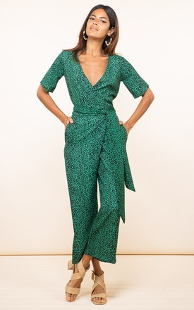 Atlantis Jumpsuit In Small Green Leopard by Dancing Leopard Product photo