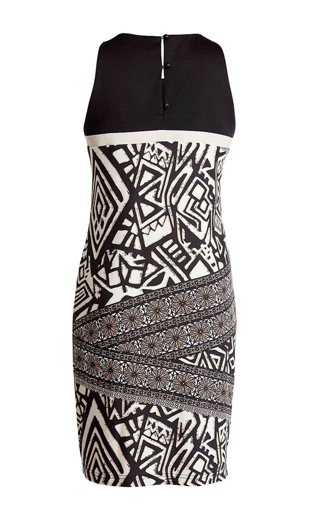 Sleeveless Print brown Dress by Conquista Fashion
