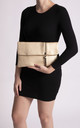 Layla Faux Leather Clutch in Gold by KoKo Couture