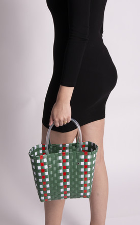 Sierra Green Woven Basket Bag by KoKo Couture