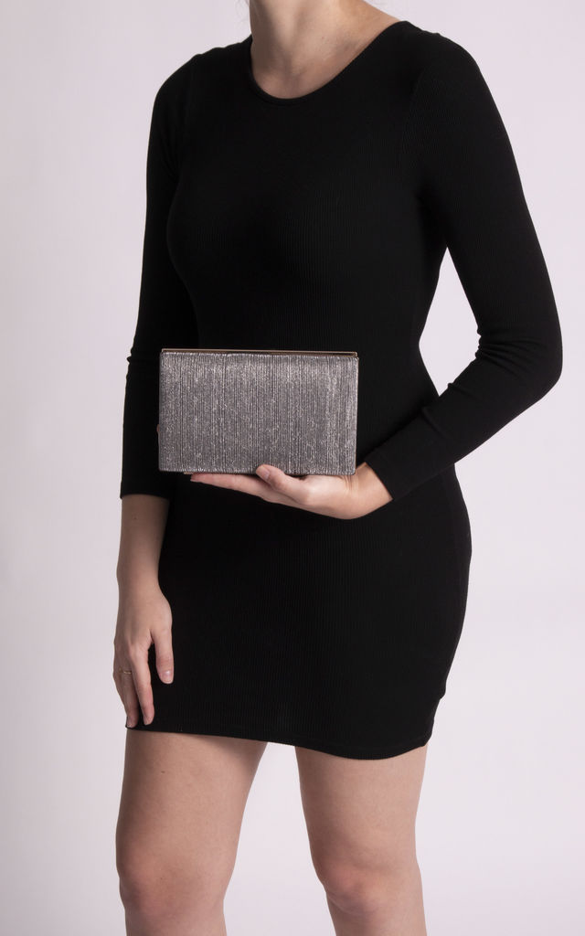 Olivia Black Zip Up Clutch Bag by KoKo Couture