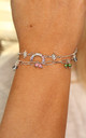 'Hope' Bright Crystal Rainbow Bracelet Set in Silver by Kate Thornton