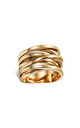 Sunrise Orbital Ring in Gold by ONLY CHILD