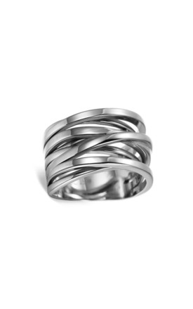 Sunrise Orbital Ring in Silver by ONLY CHILD