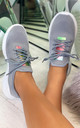 Raven Knitted Sock Trainers in Grey by Larena Fashion