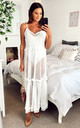 COLETTE SUMMER MESH DRESS WHITE by Amy Lynn