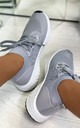 Taliyah Knitted Sock Trainers in Grey by Larena Fashion