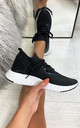 Taliyah Knitted Sock Trainers in Black by Larena Fashion
