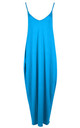 Turquoises Strappy Basic Jersey Slinky Maxi Dress by Oops Fashion