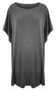 Charcoal Oversized TShirt Dress by Oops Fashion