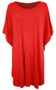 Red Oversized TShirt Dress by Oops Fashion