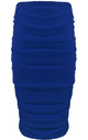 Elizabeth High Waisted Ruched Skirt In Royal Blue by Oops Fashion