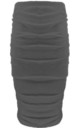 Elizabeth High Waisted Ruched Skirt In Charcoal by Oops Fashion
