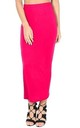 High Waisted Jersey Maxi Skirt In Cerise by Oops Fashion
