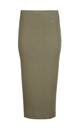 High Waisted Jersey Maxi Skirt In Khaki by Oops Fashion