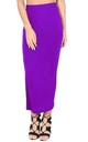 High Waisted Jersey Maxi Skirt In Purple by Oops Fashion