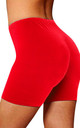 High Waisted Jersey Cycle Shorts in Red by Oops Fashion
