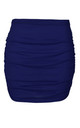 High Waist Ruched Mini Skirt in Navy by Oops Fashion