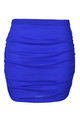 High Waist Ruched Mini Skirt in Royal Blue by Oops Fashion