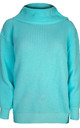 Emily Roll Neck Knitted Jumper In Turquoise by Oops Fashion