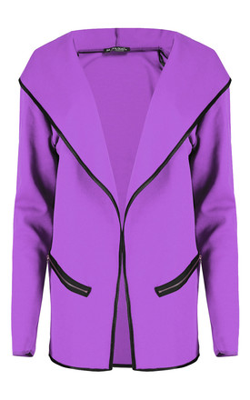 Sasha Jacket in Lilac with Contrast Piping by Oops Fashion