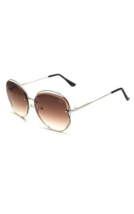 STORM 'DEIPYLE' OVERSIZED METAL SUNGLASSES (BROWN) by STORM