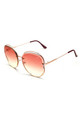 STORM 'DEIPYLE' OVERSIZED METAL SUNGLASSES (PINK) by STORM
