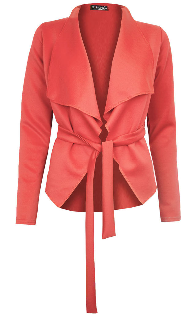 Daryl Waterfall Cropped Jacket In Coral by Oops Fashion