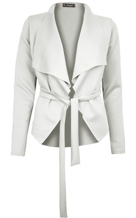 Daryl Waterfall Cropped Jacket In Cream by Oops Fashion