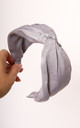 Satin Twist Knot Headband in Silver Grey by One Nation Clothing