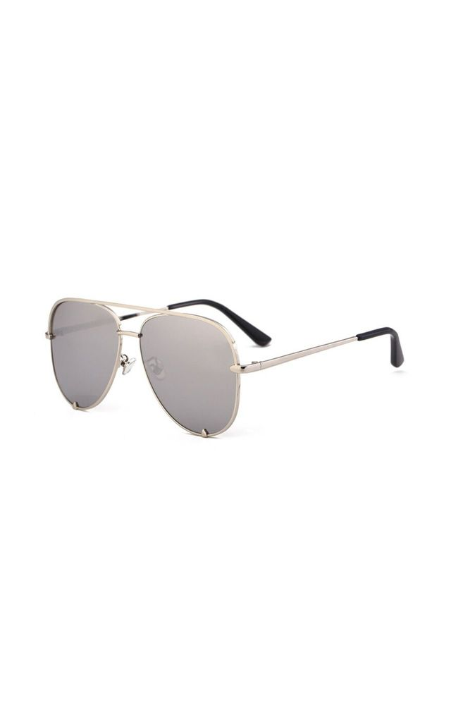 Rachael Aviator Silver Sunglasses by Don't Be Shady
