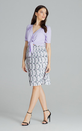Violet Short, Simple Blouse With a Decorative Tie by LENITIF