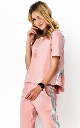 Pink Tracksuit Set with Decorative Strap by Makadamia