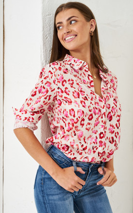 Pink Leopard Print Shirt by love frontrow Product photo