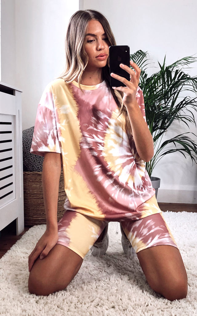 Tie Dye Cycle Set Coord | Tee & Shorts by KURT MULLER
