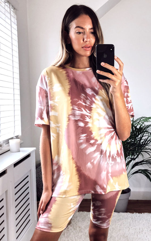 Tye Dye Cycle Set Co-ord | Tee & Shorts by KURT MULLER