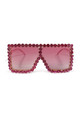 Ritz oversized Dimanté Sunglasses Pink by AMO