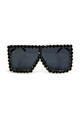 Ritz oversized Dimanté Sunglasses Black by AMO