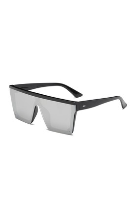 Emma Flat Top Square Sunglasses Silver by Don't Be Shady