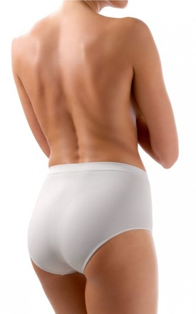White Tummy Control Shaping Briefs by BB Lingerie