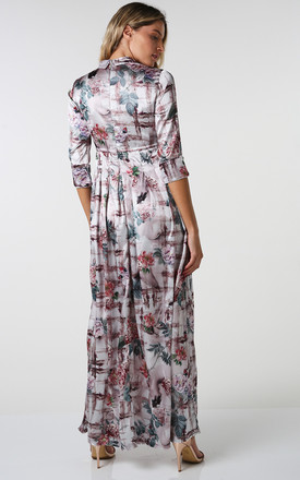Erica floral pleated maxi dress by Shade Your Style