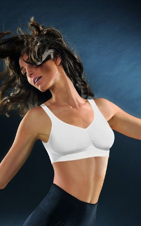 White Compression Push Up Bra by BB Lingerie